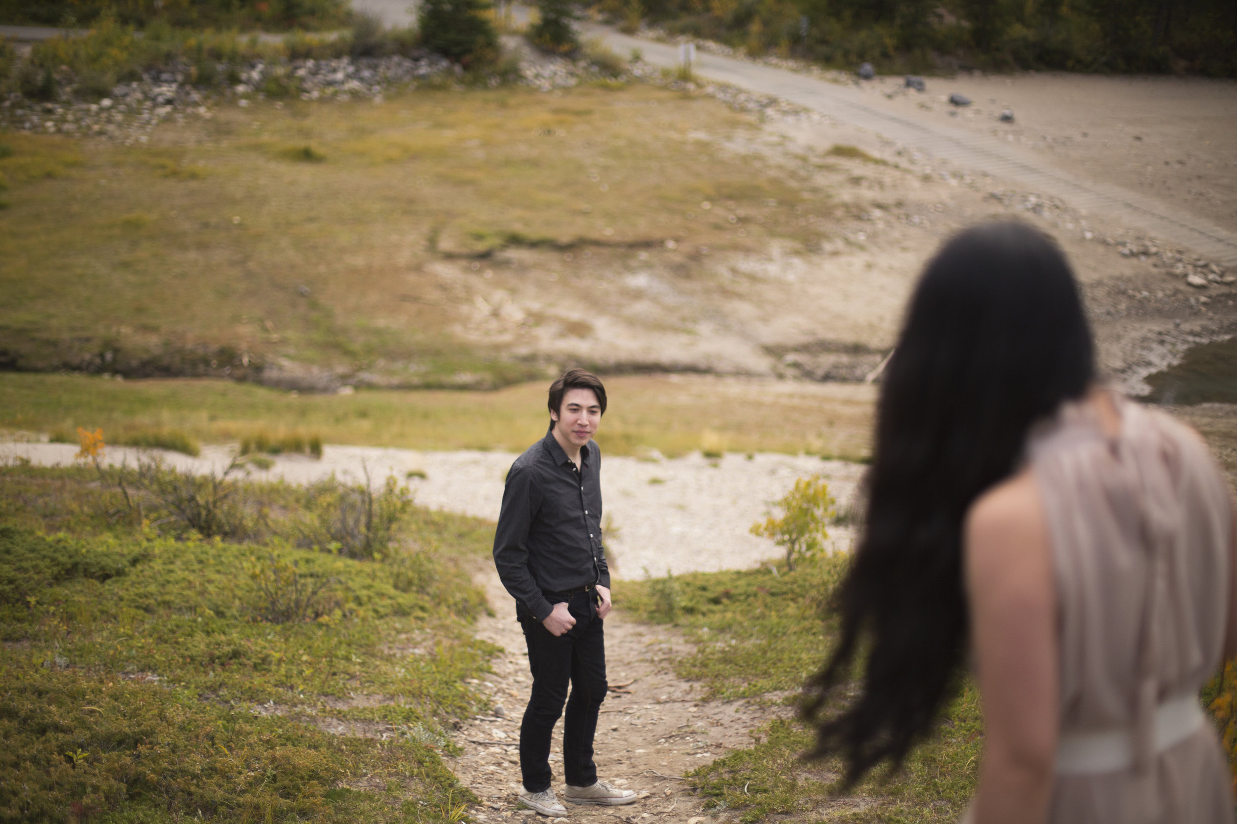 Canmore Alberta Couple Engagement