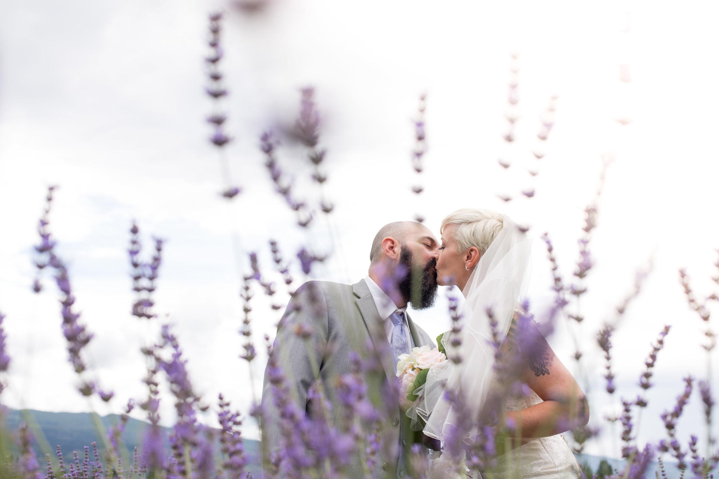 Darlene & Dave at  Okanagan Lavender Farm  in Kelowna British Columbia.