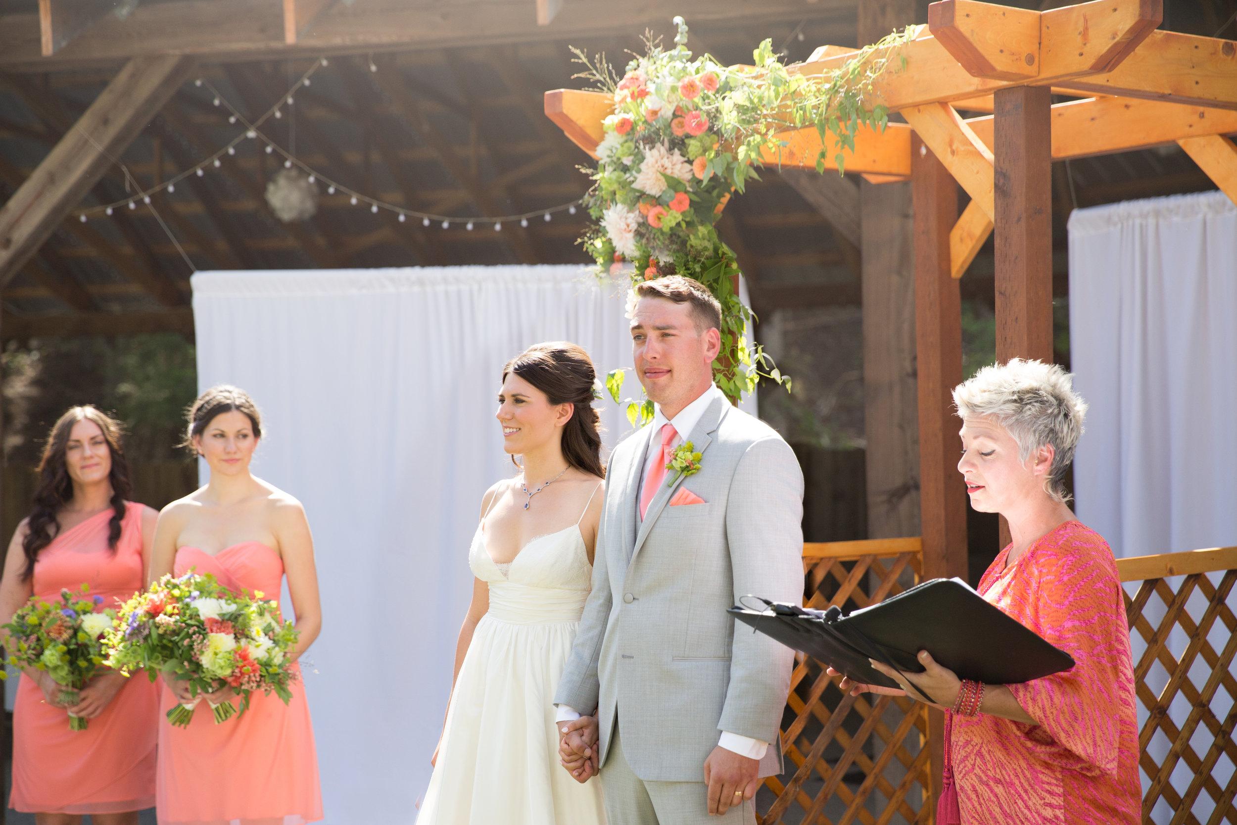 Seth & Jessica wedding at  Shylynn Ranch  at Falkland British Columbia Canada.