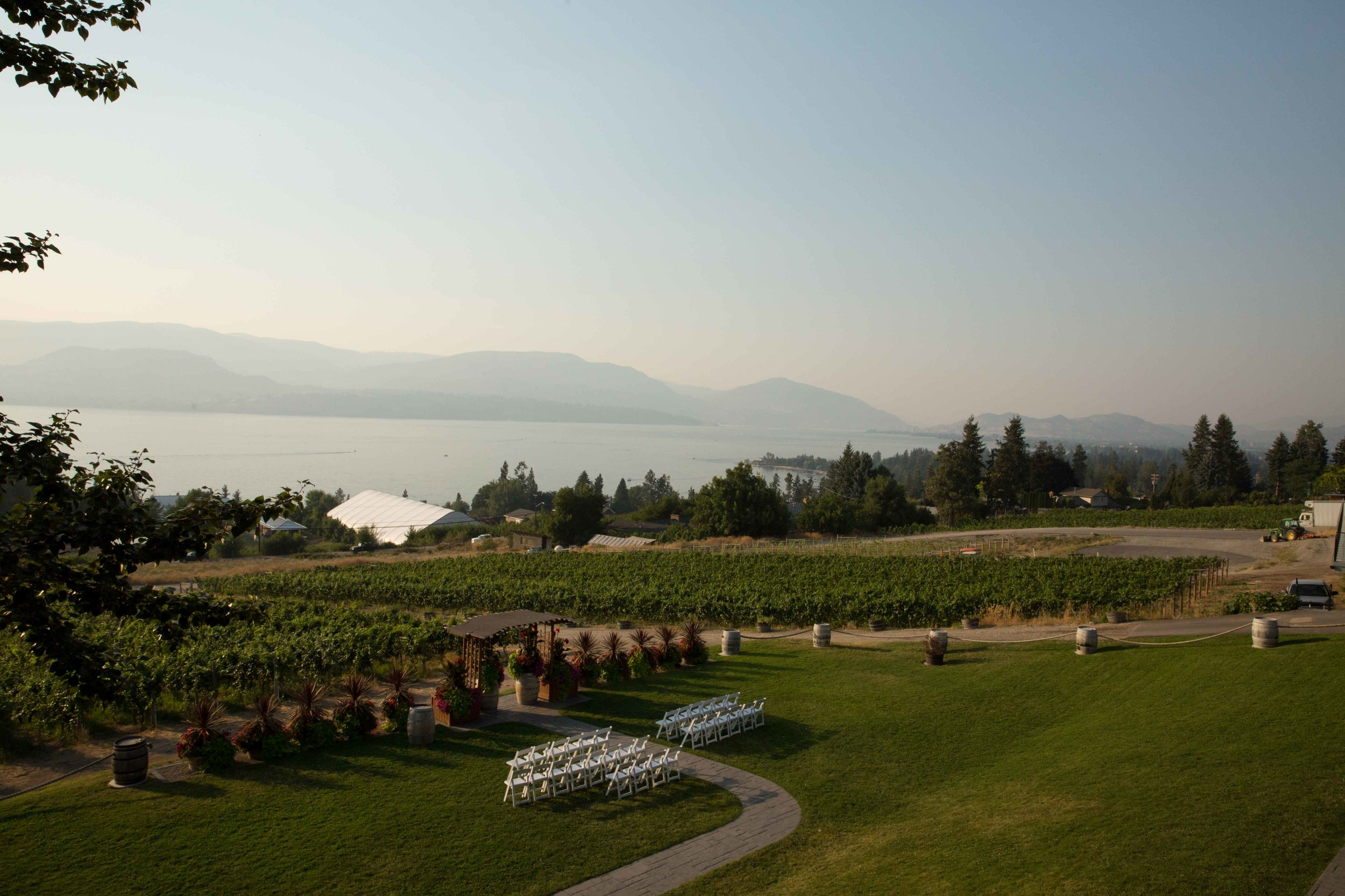 Summerhill wedding reception in Kelowna British Columbia.
