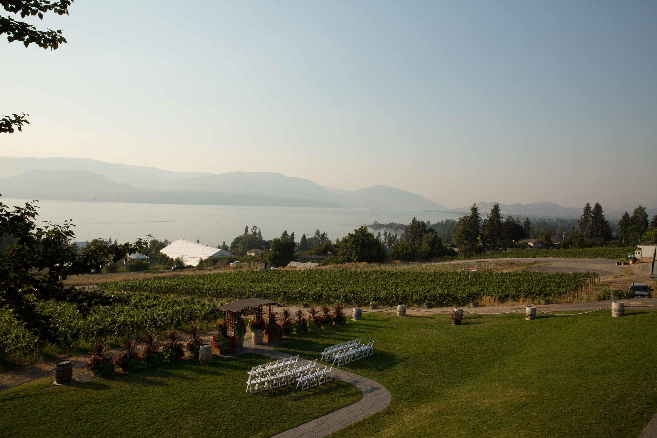 Summerhill wedding reception in Kelowna British Columbia.