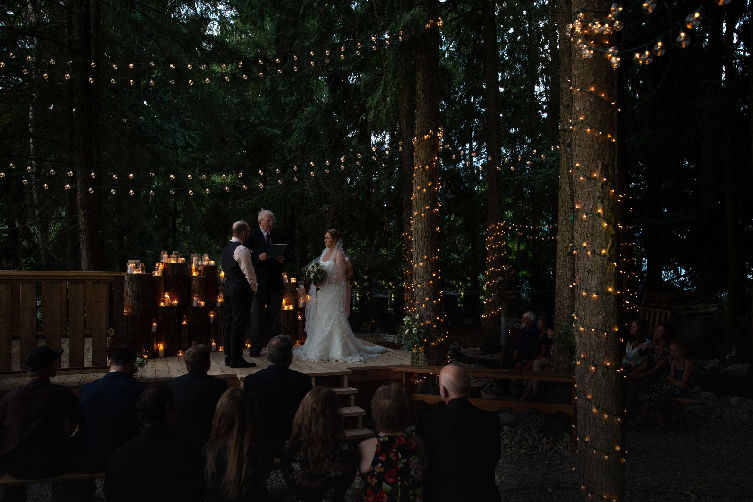 Brandy & Steven backyard wedding pictures in Sicamous British Columbia.