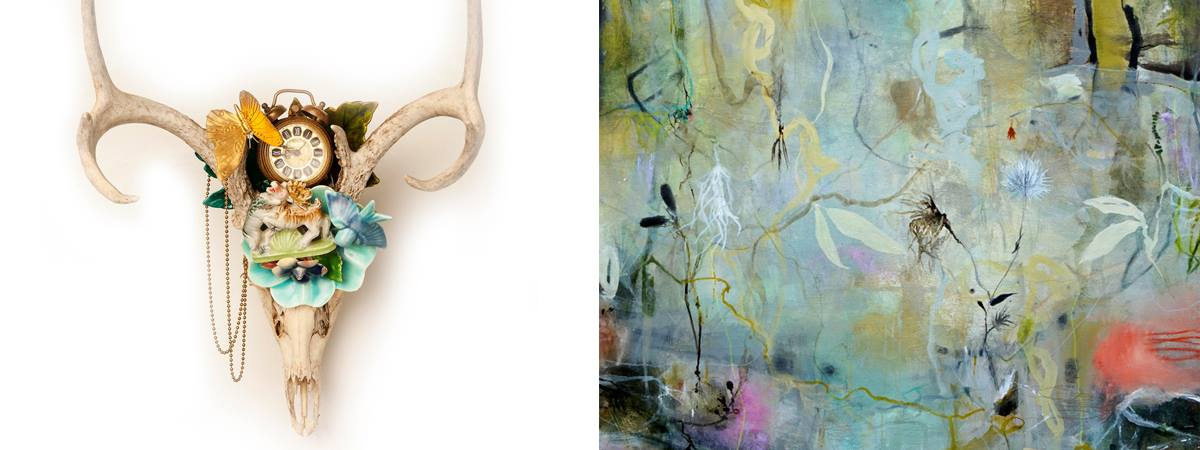 """LeMieux Galleries  Opening reception for Deedra Ludwig """"Luminescence"""" & Marcy Lally """"Memento Wild"""""""