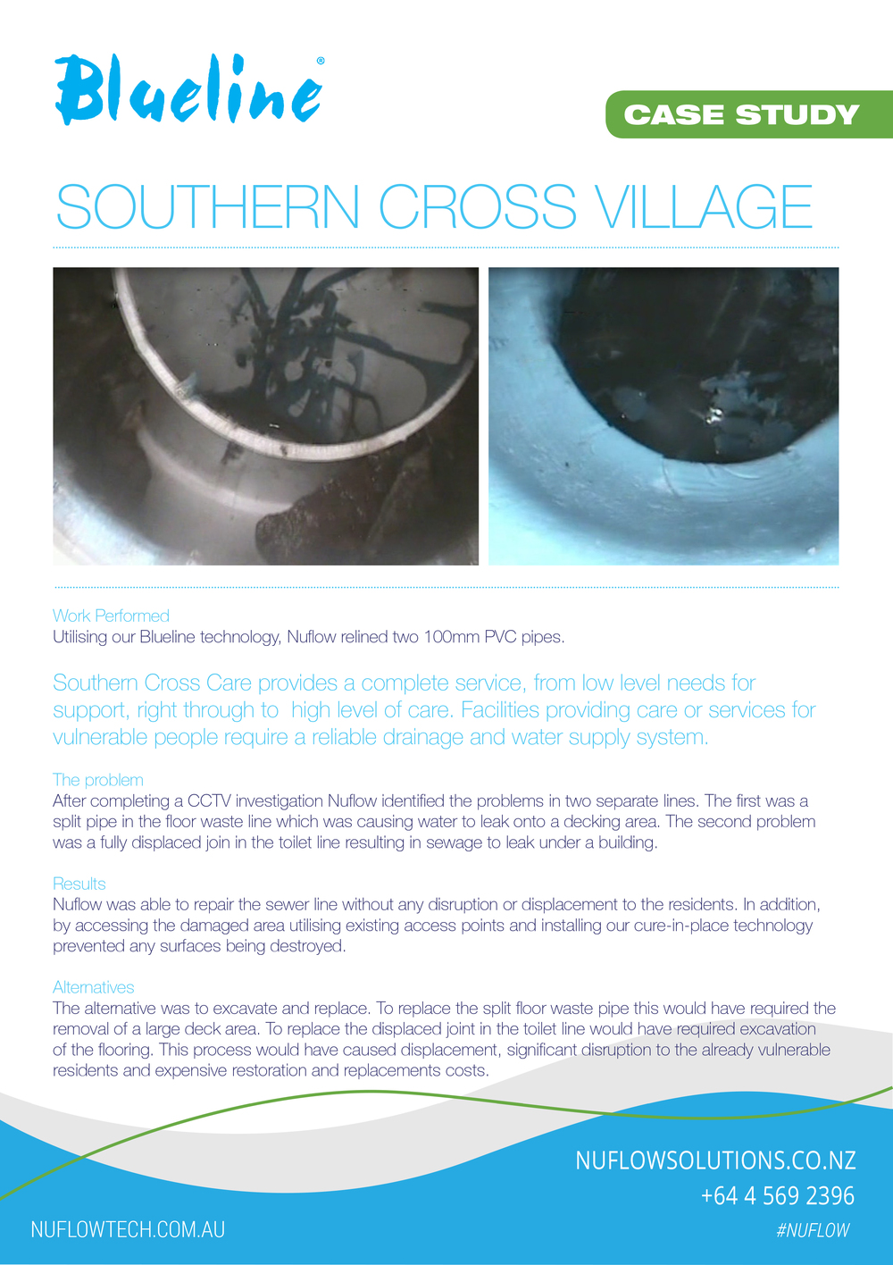 Drain Repair Case Studies | Wellington, New Zealand | Nuflow