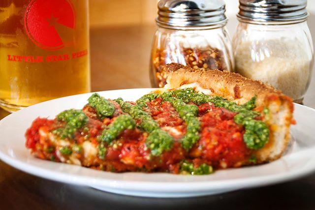 Pro Tip: Pesto goes great with pizza... So does beer. . . . ——— #instaeats #seriouseats #eatfamous #dailyfoodfeed #thestarpdx #spoonfeed #ilyfoodgram #eatfamous #eater #myfab5 #feedfeed #huffposttaste #forkyeah #foodrepublic #sfeats #sanfrancisco #eatersf #noms #foodstagram #portland #eeeeeats #instafood #foodmento #grubzone #missionsf #foodgasm