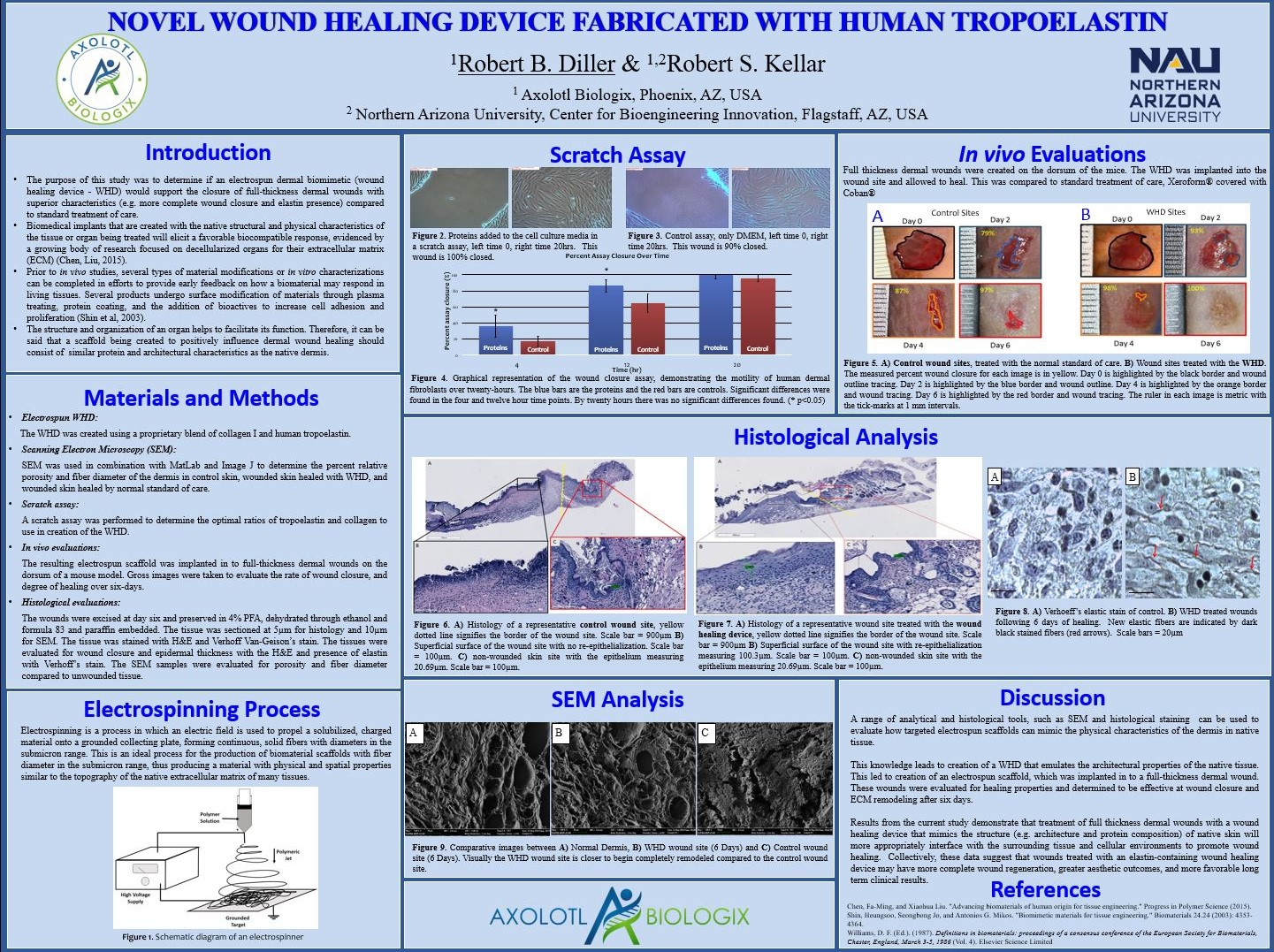 Novel Wound Healing Device Fabricated with Human Tropoelastin poster (2).JPG