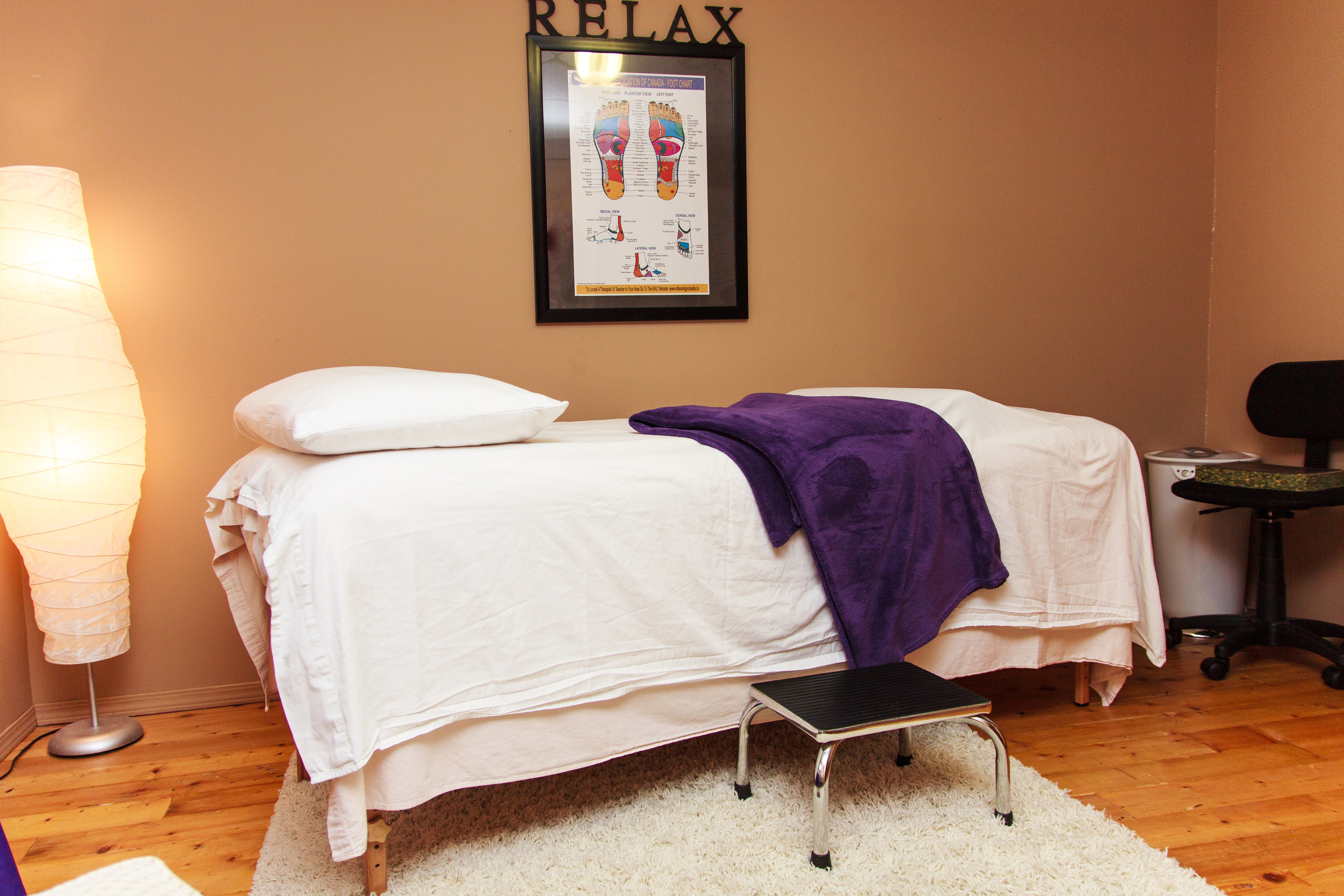 the treatment room all ready to give your feet a treat.