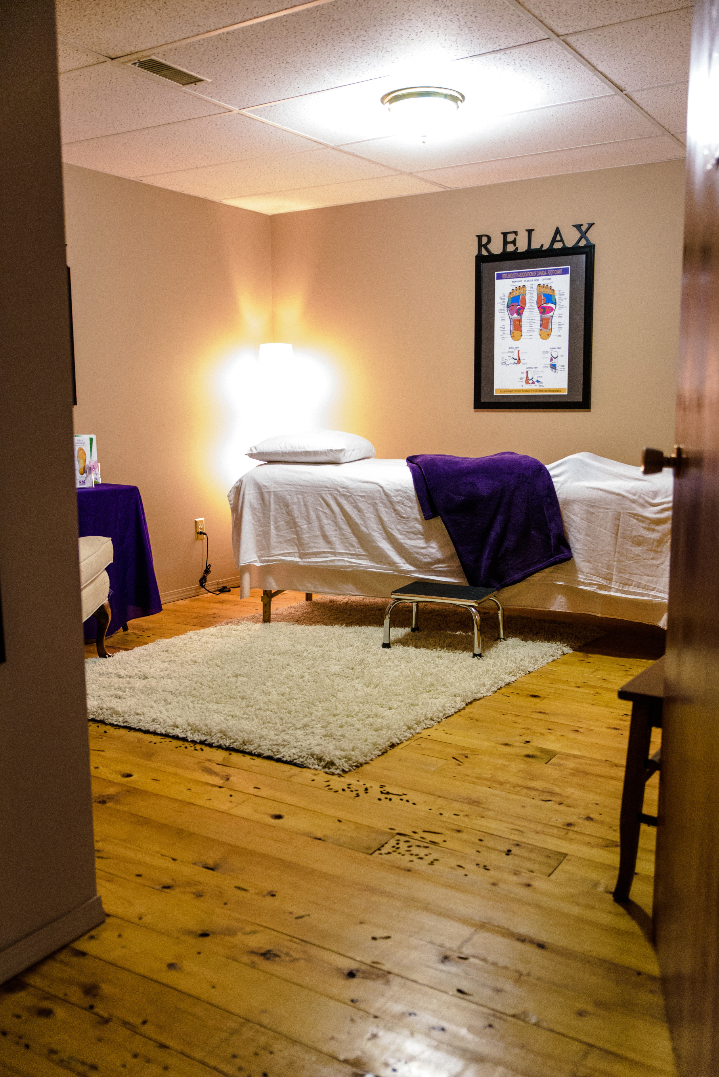 Here is the treatment room - ready to pamper you.