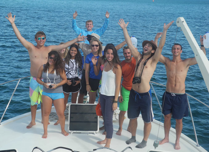 University of Miami students in the Galapagos Islands