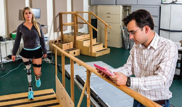 Study participant Kelly Elizabeth working with researcher Christopher Bennet. (University of Miami)