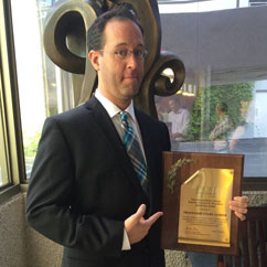 Colby Leider, associate professor and director of the Music Engineering Technology program at Frost, was awarded the 2014 Phillip Frost Award for Excellence in Teaching and Scholarship.