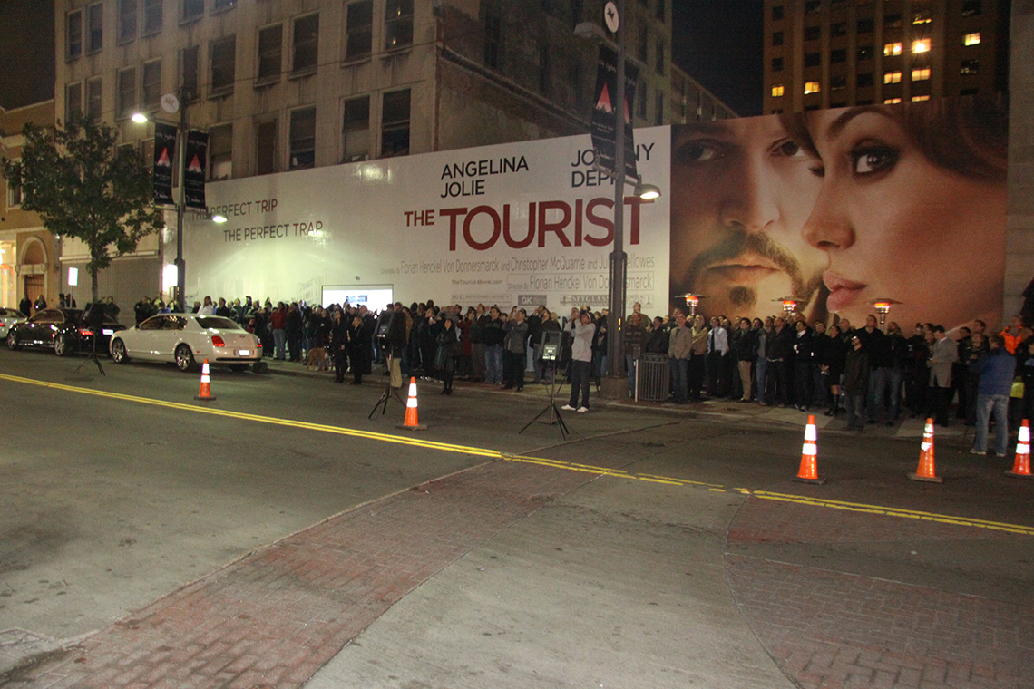 The Tourist 3-D Projection Event