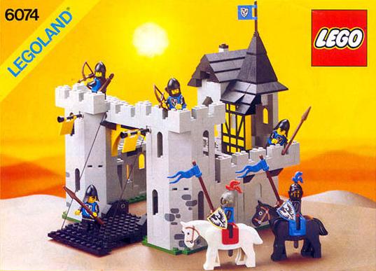 LEGO VINTAGE  MINIFIG   minifigure   6074 Black Falcon/'s Fortress   black  horse