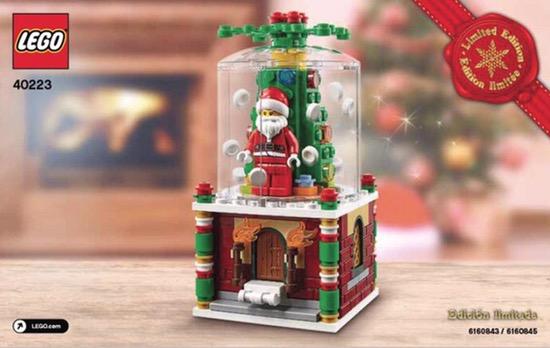 Lego Christmas 2016 Snow Globe 40223 Black Friday Limited Edition Brand New