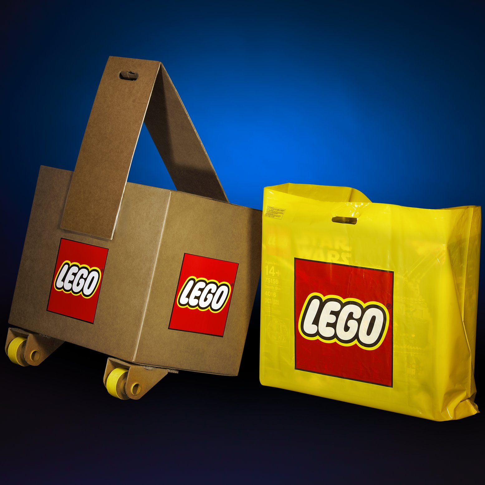 Teaser #5 - The LEGO Star Wars Death Star fits in our yellow bag, but we have to apply wheels so shoppers can carry the next LEGO Star Wars set! -LEGO Group [August 29, 2017]