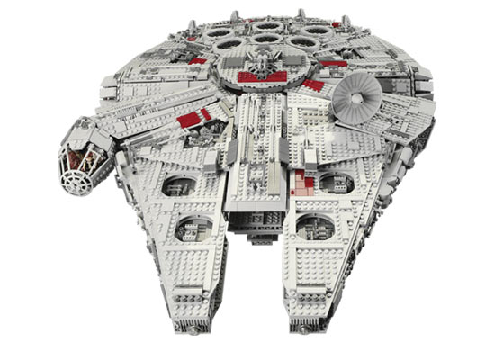 Front View of the LEGO Star Wars Ultimate Collector Series Millennium Falcon originally released in 2007