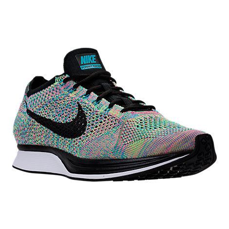 Unisex Nike Flyknit Racer Running Shoes, Size: 10, Color: Green Strike/Black/Blue Lagoon $109.98