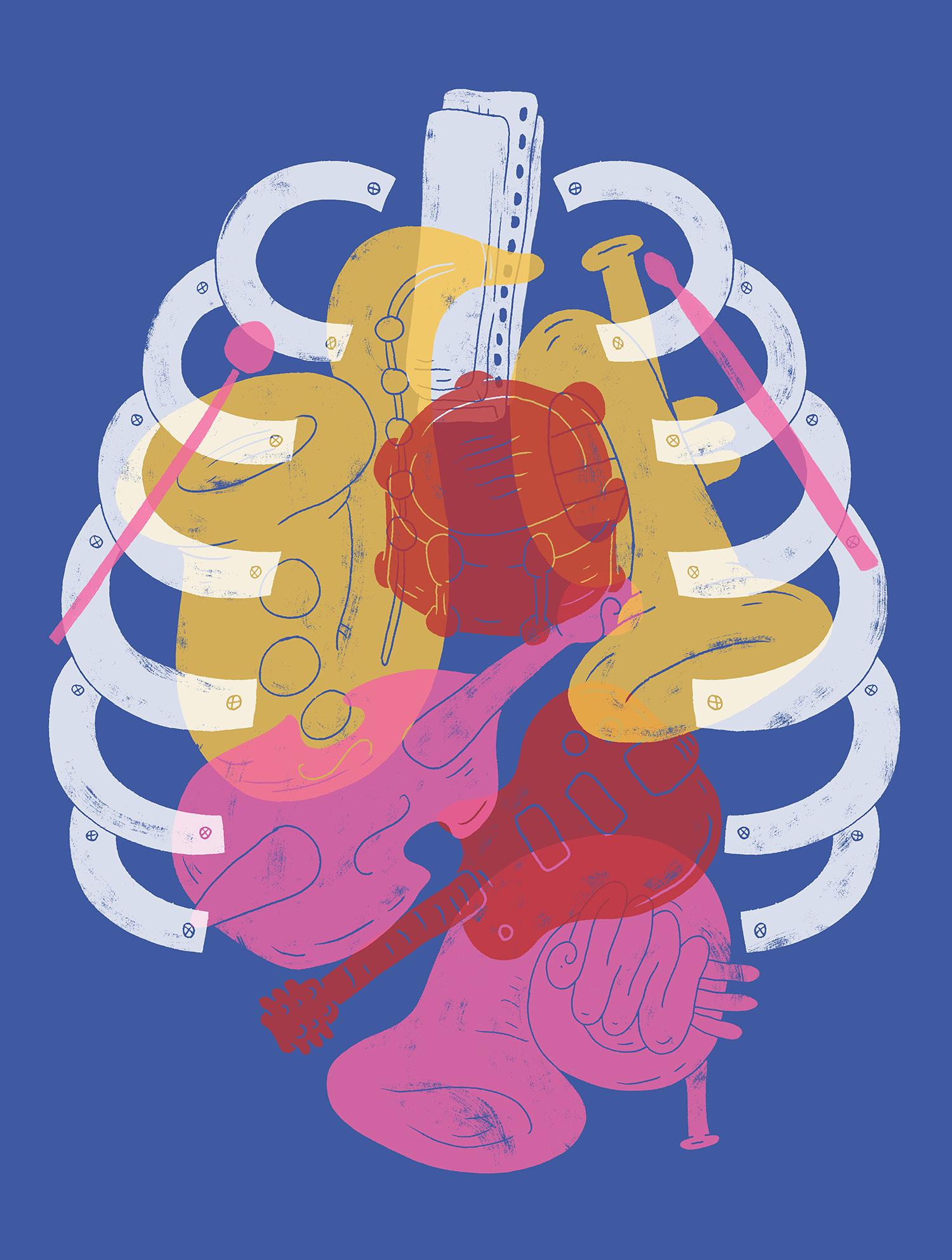 NOLA Musicians Clinic Shirt Design