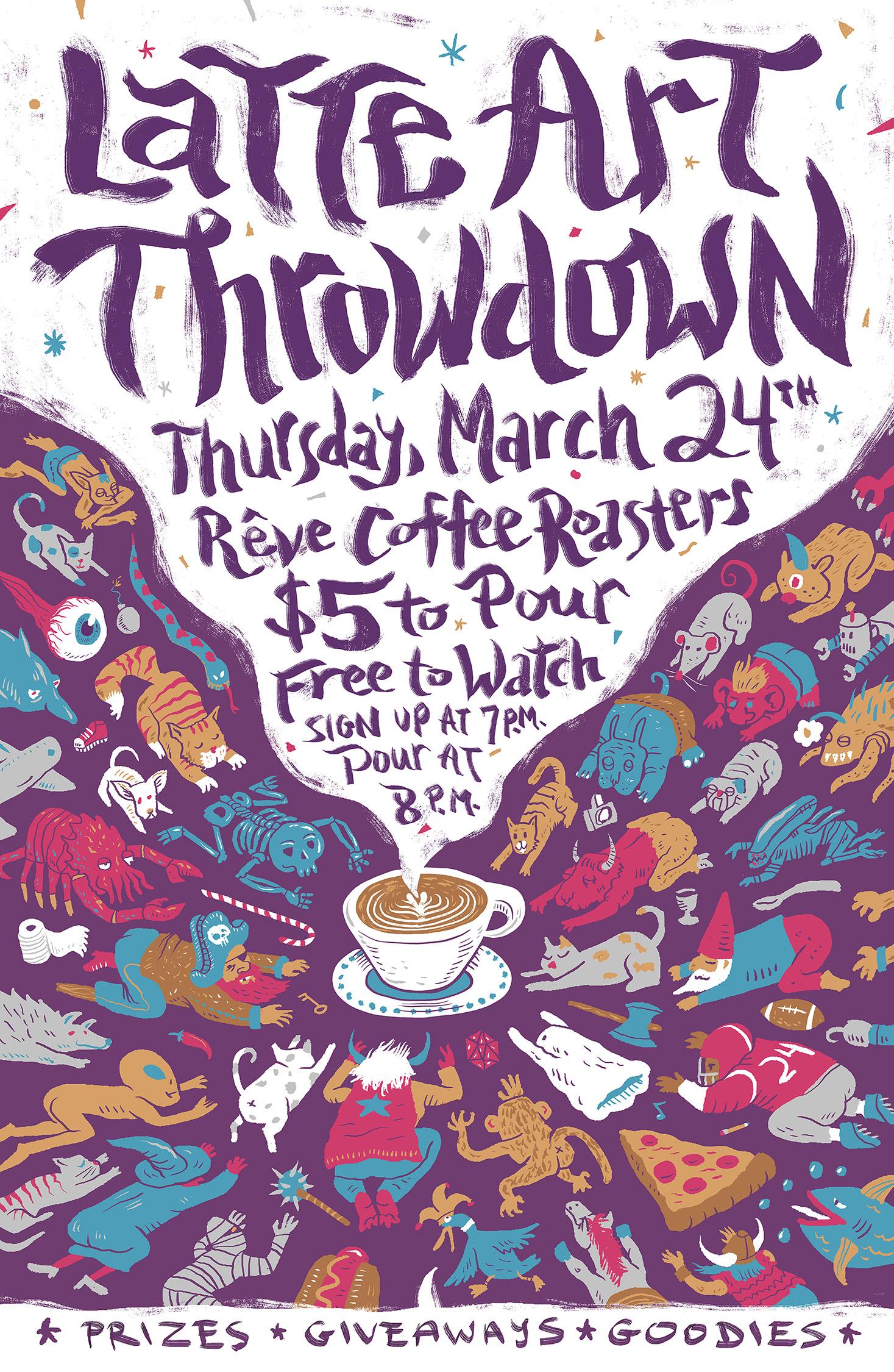 Latte Art Throwdown Poster