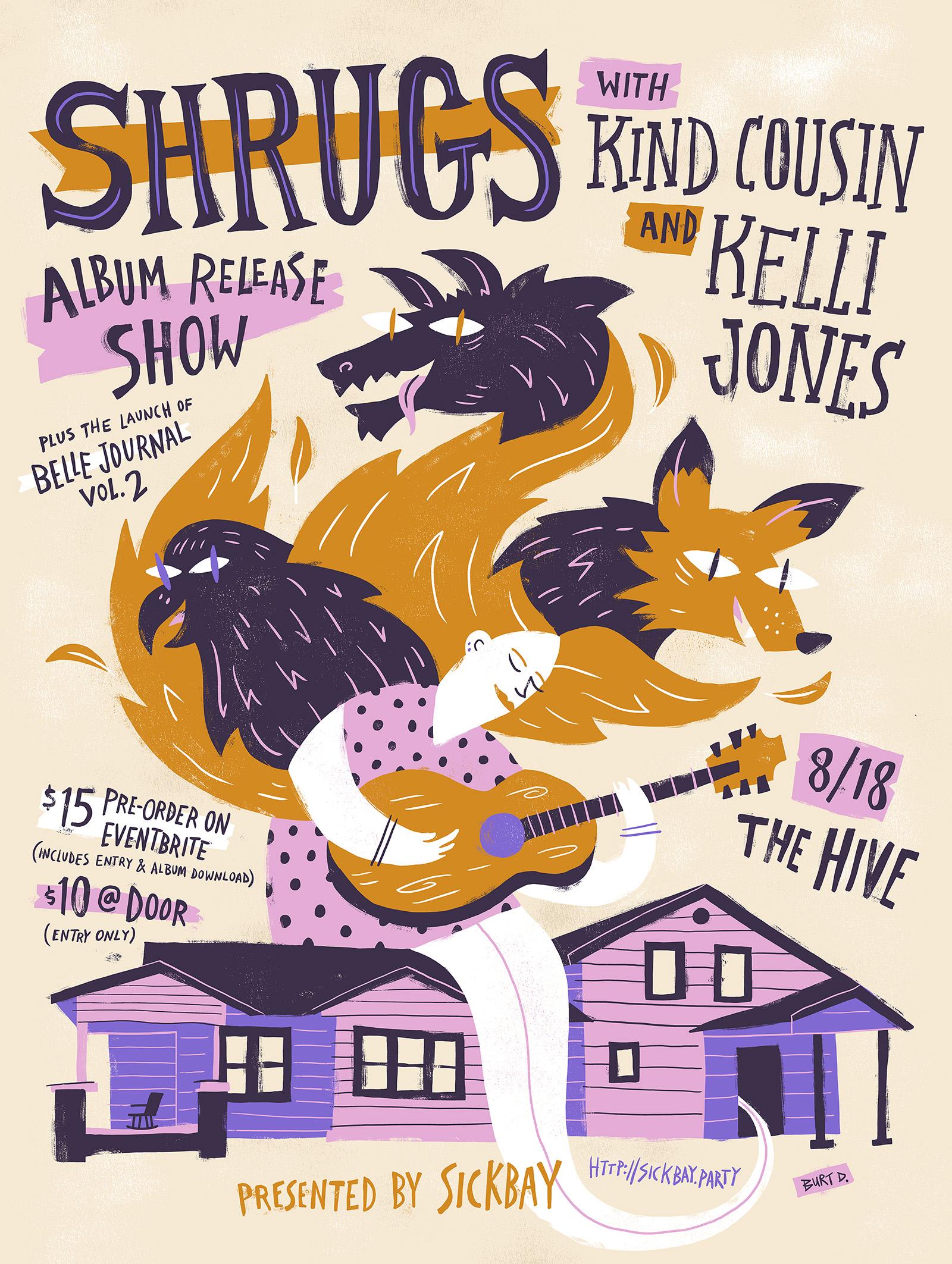 Shrugs Album Release Poster