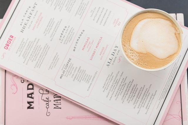 Cafe menu design with side of delicious coffee. #lookforthewasher #tasteenvy #menudesign