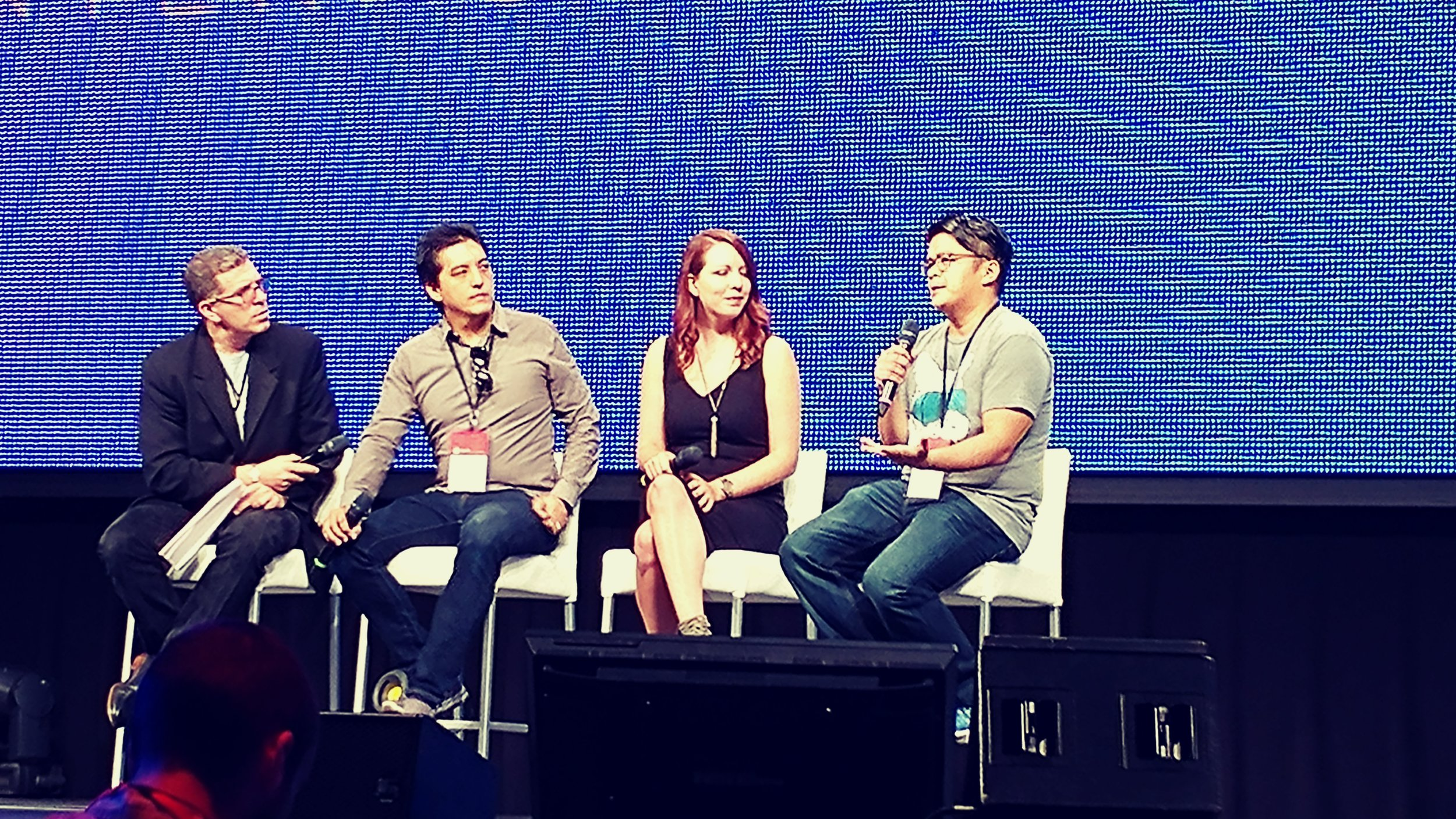 Co-founder, Elbert Perez, discusses the business of VR on a panel at OrlandoiX17.