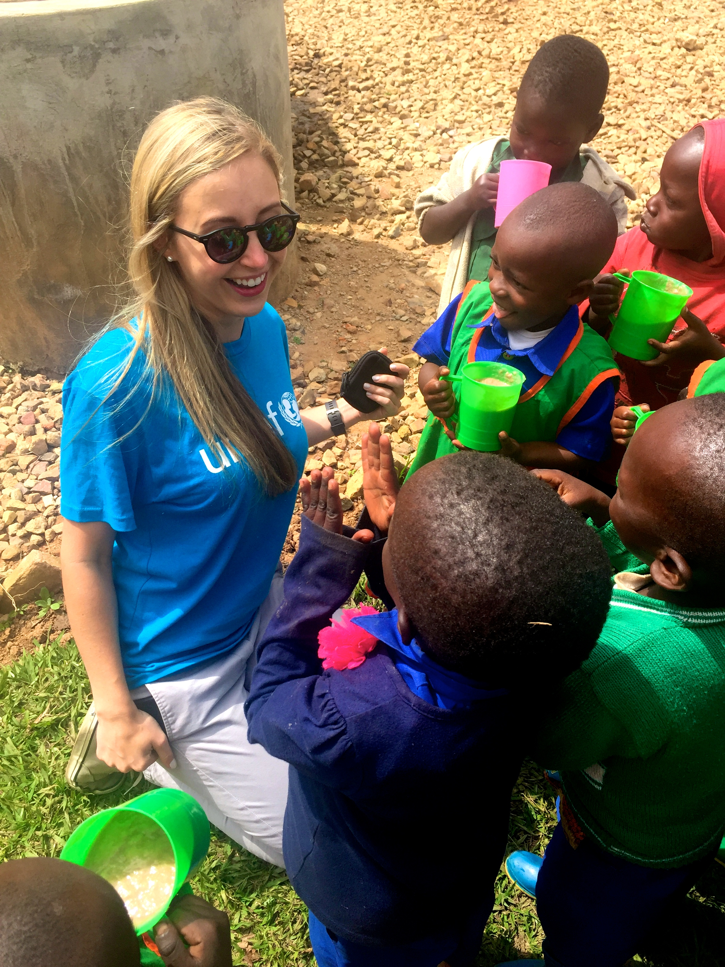 Sterling McDavid in Rwanda. The Starling Project will soon be funding solar projects in Rwanda with UNICEF.