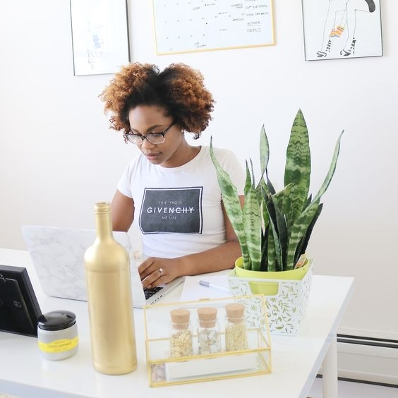 CONTENT CREATOR - The Content Creator creates the amazing flyers we use on social media, as well as banner ad's and everything else. She has a passion for uplifting women, she's innovative, and she loves to create.