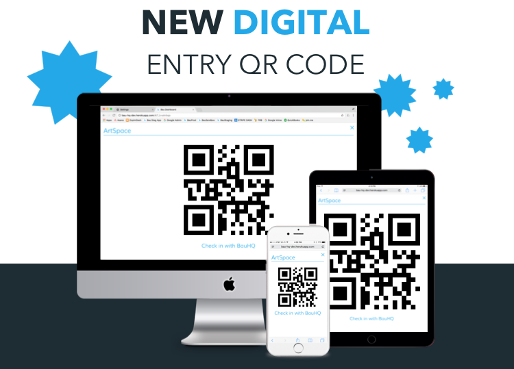 digital entry QR code