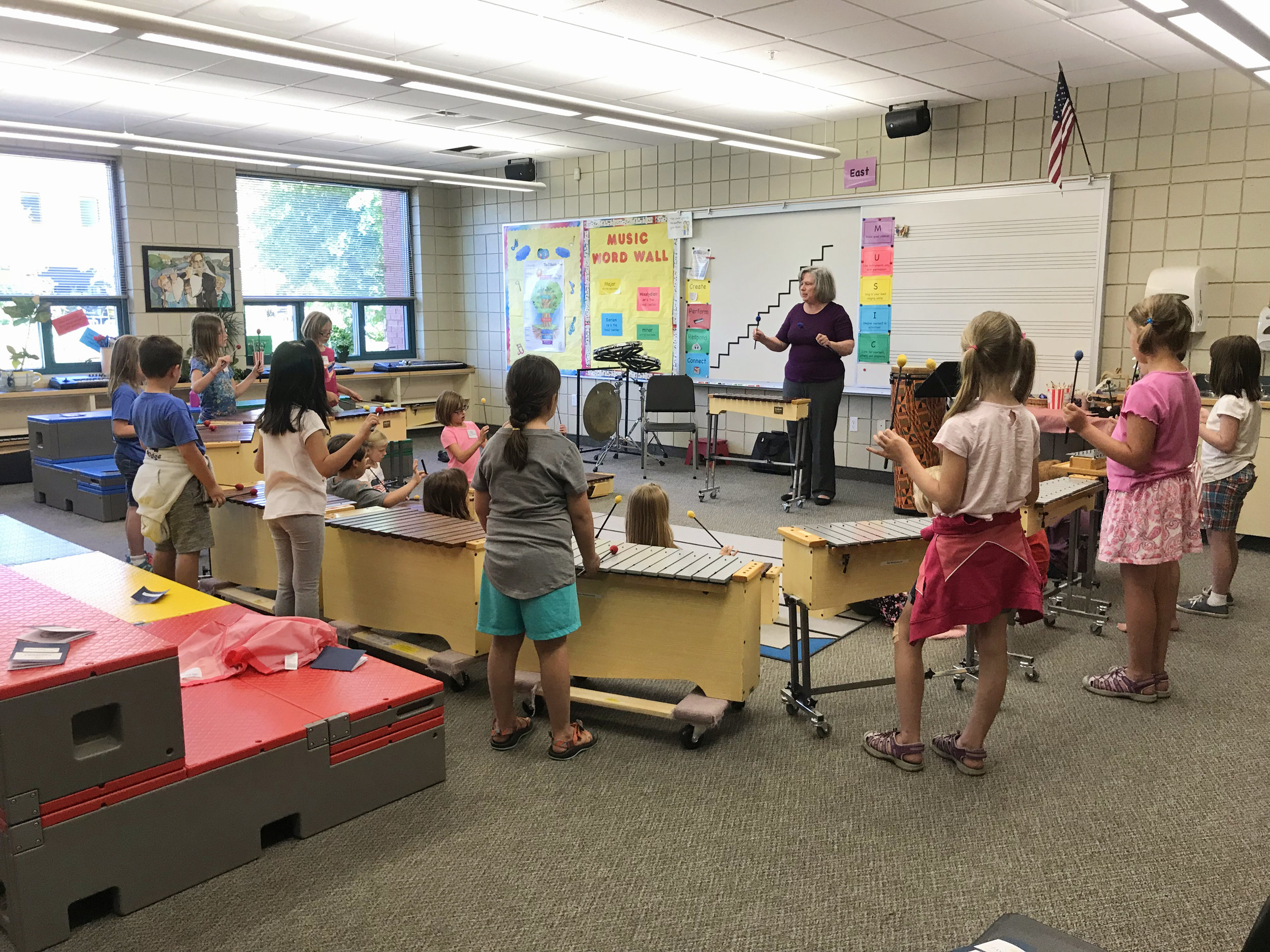 - Orff class with Miss Delpha