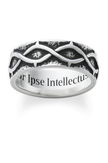 "Ring Tom wore to symbolize his graduation from UST inscribed, ""Amor Ipse Intellectus Est"" meaning ""love in itself is already the beginning of knowledge"""