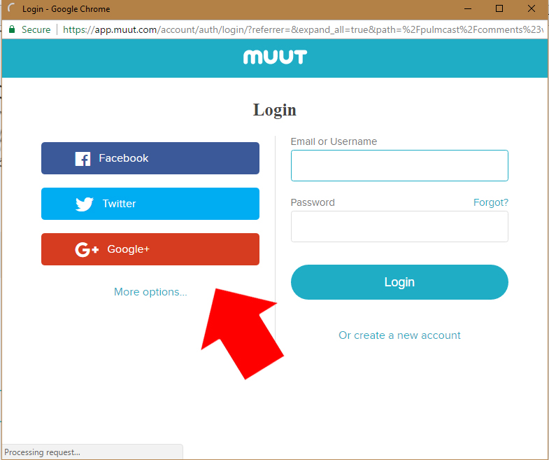 You'll be prompted to make an account - you can use FB, Twitter or gmail - or any other email address.