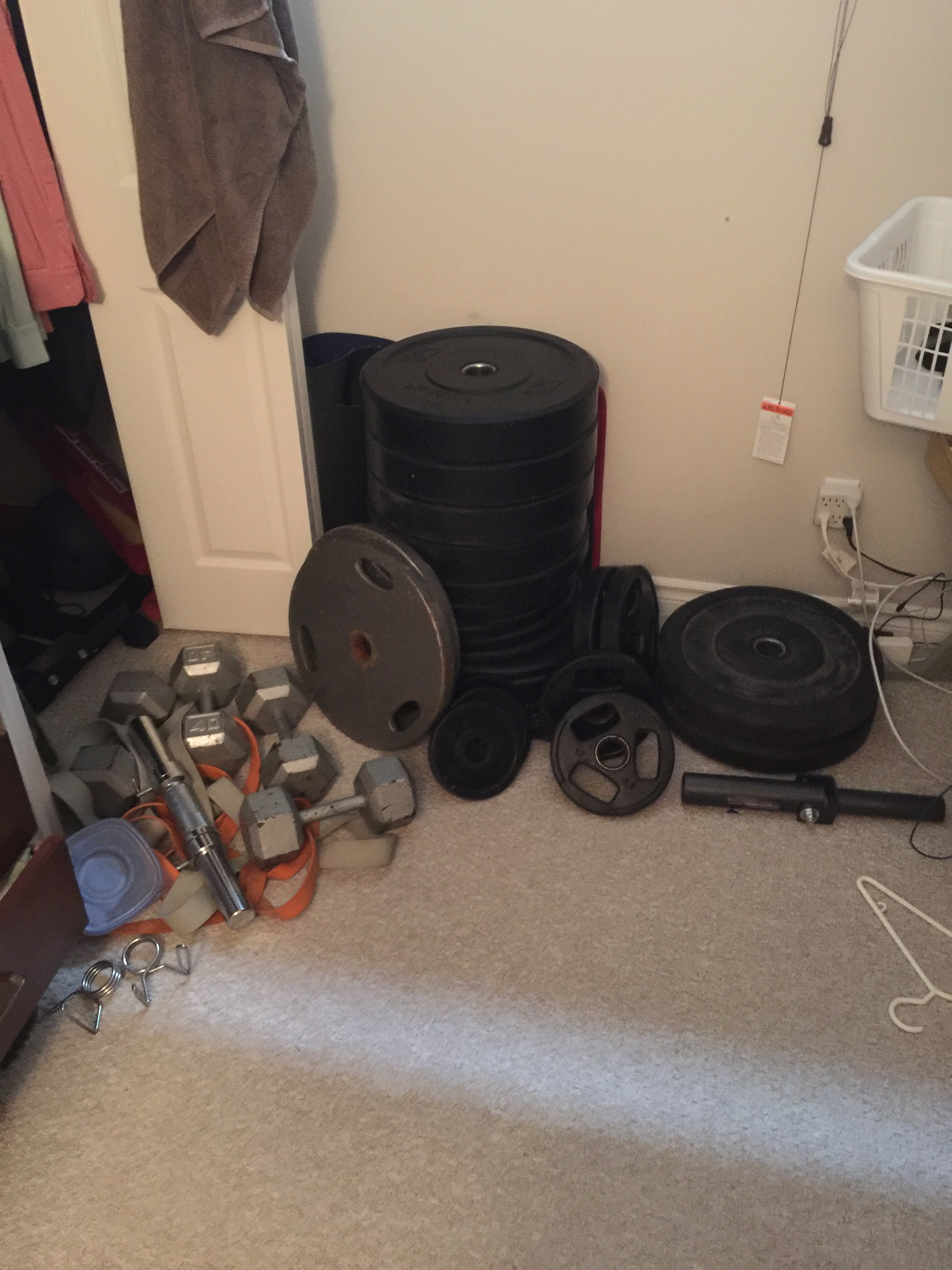 The squat stands fit in my closet when not in use.