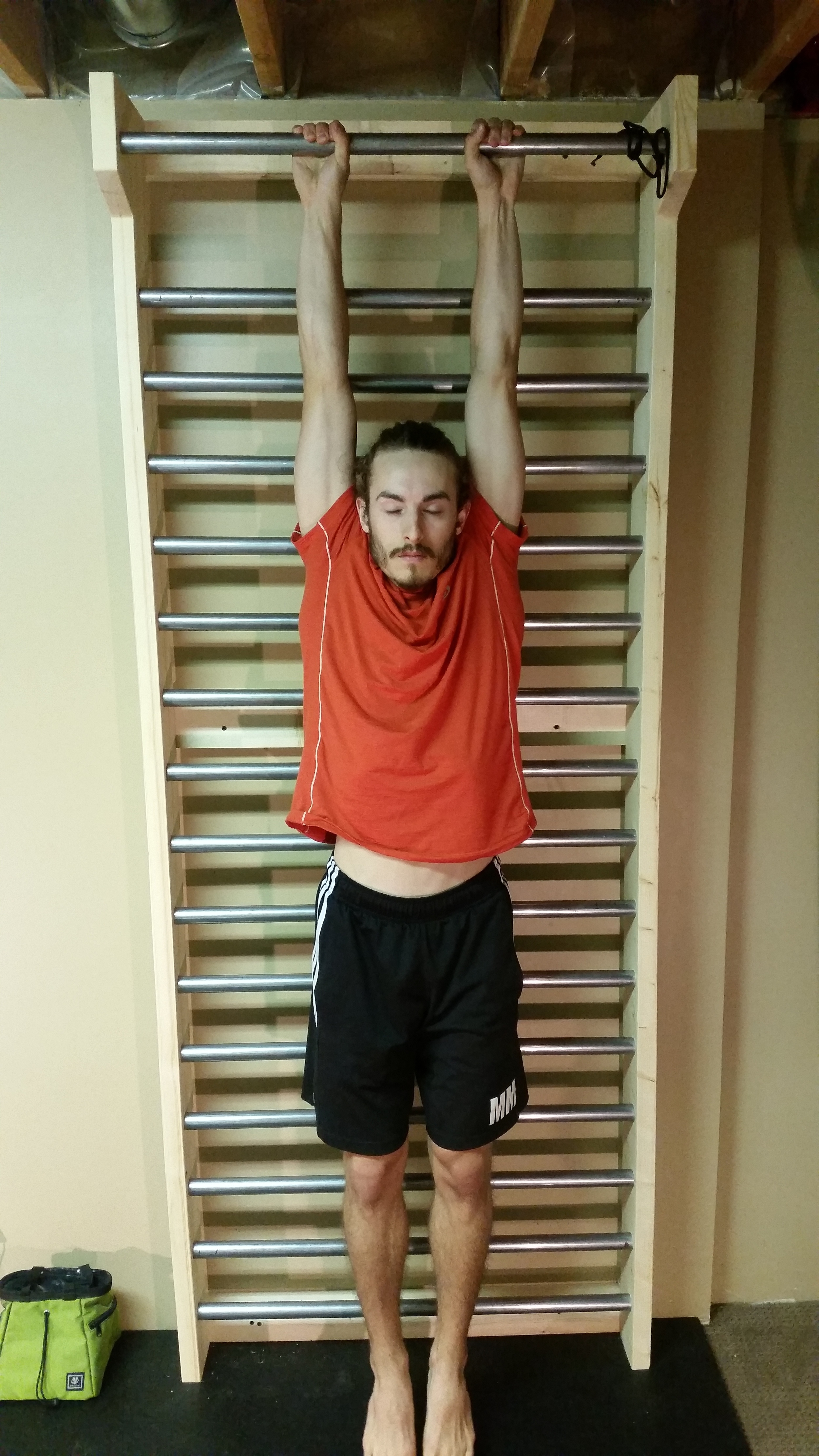 Passive Hang, front (so relaxed, I am practically sleeping!)