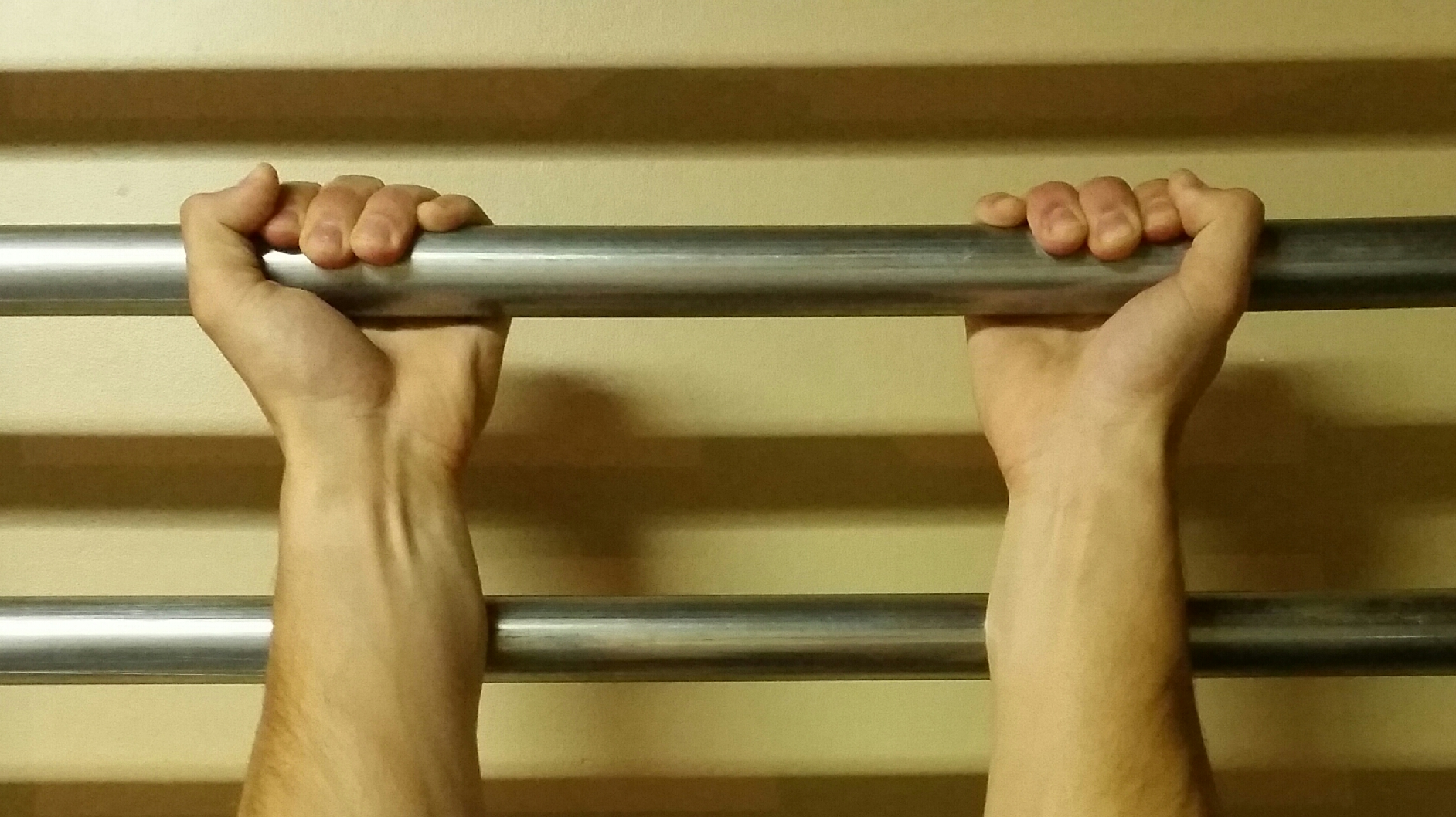 Supinated Grip (thumbs out)