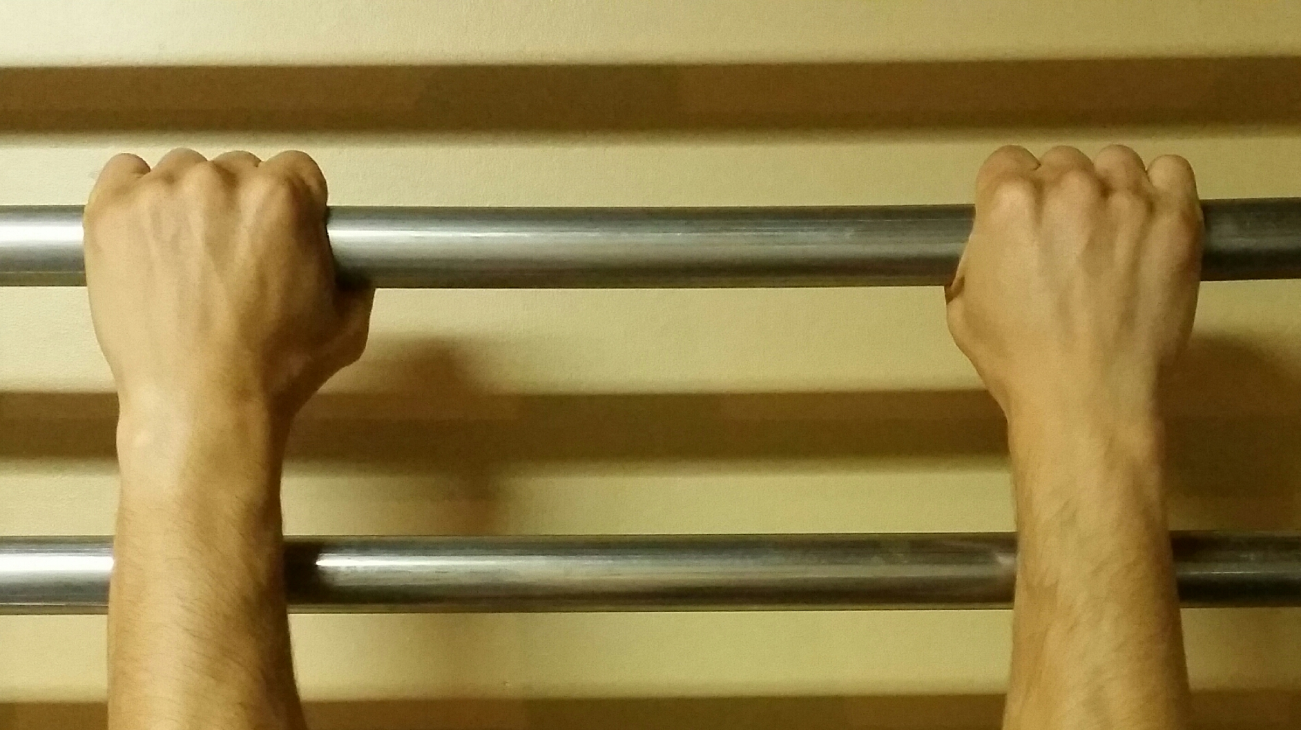 Pronated Grip (thumbs in)