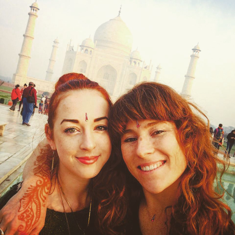 Ayurveda Goddess  Kelee  (m y roommate for the journey)  and me at the Taj in 2014