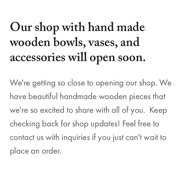 🙌 We're working to get our online shop up and running! Just in time for the holidays! 🎁 . . . #handmade #handmadeholiday #woodworking #woodgrain #artisanmade #woodturning #woodbowls #woodspoons