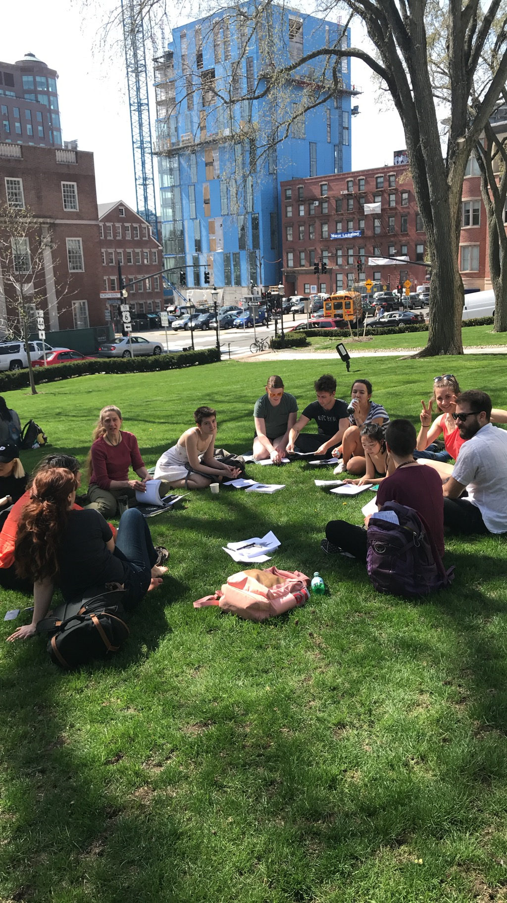 The Degree Program Workshop goes outdoors as spring starts to warm Providence