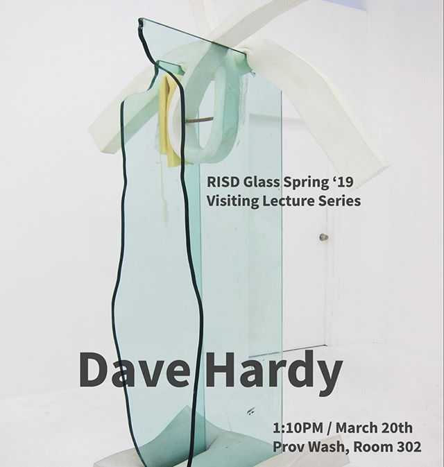 This Wednesday, Dave Hardy (Brown, BA '92, Yale MFA, Skowhegan '04) will be speaking as part of the Glass department's Visiting Artist series–