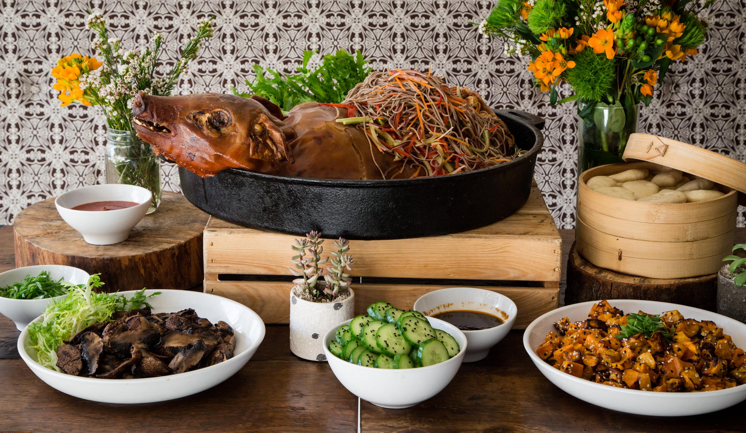 Asian-Style Suckling Pig in Cast Iron