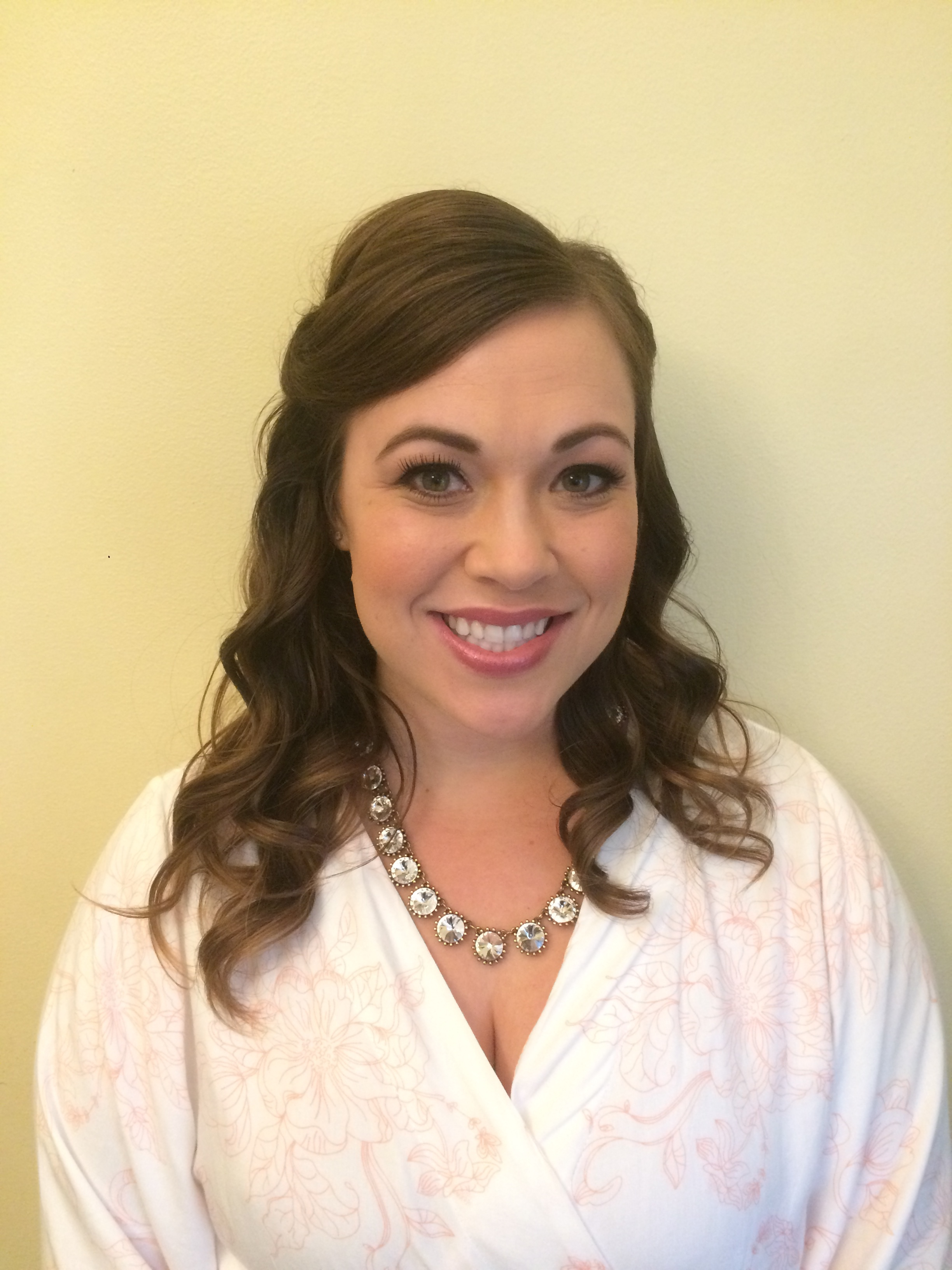 One of the Bridesmaids from the bridal party that received wedding hair and makeup services with Santa Barbara Bride.