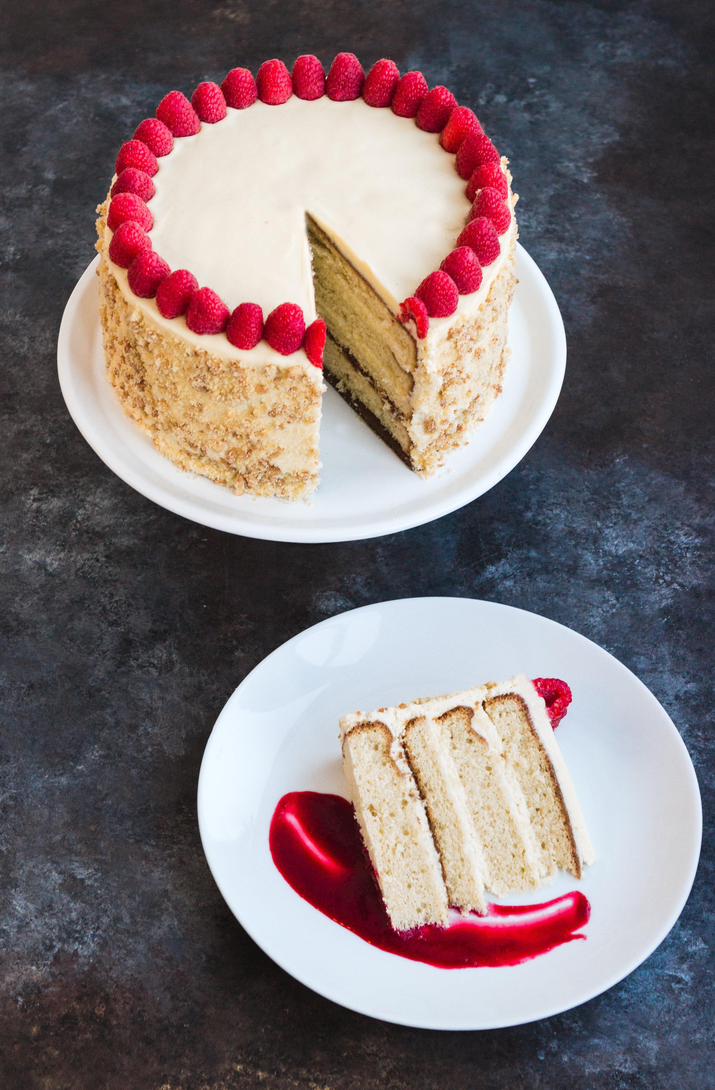 White Raspberry Cake