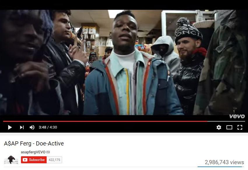 """Doe Active"" A$AP Ferg Source:  YouTube"