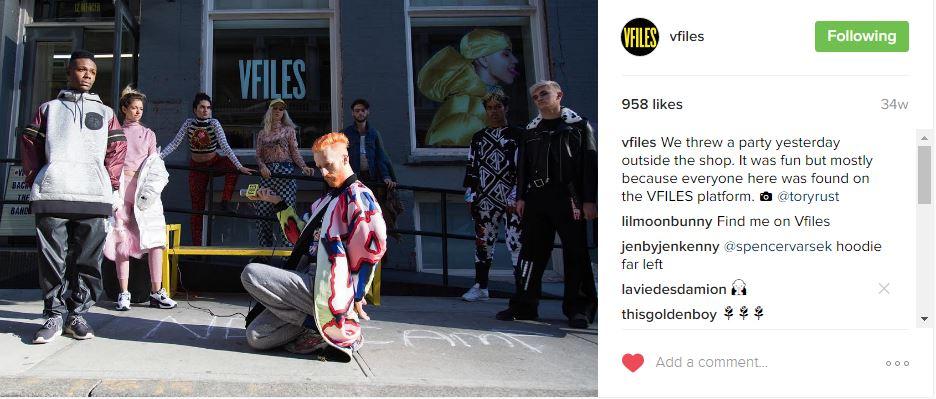 V Files  Source:  Instagram