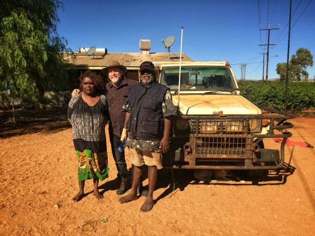 Pictured: Steve with Gordon and Allison Butcher of Haast's Bluff, Northern Territory.