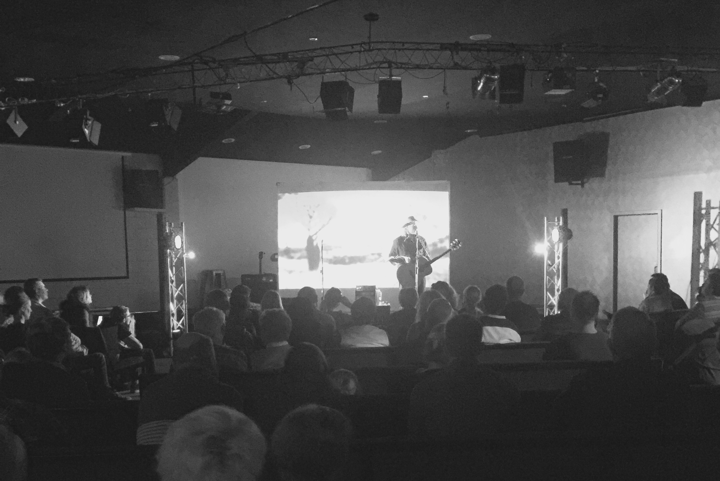 Pictured: An impromptu concert at the Namoi Christian Fellowship in Narrabri last week.