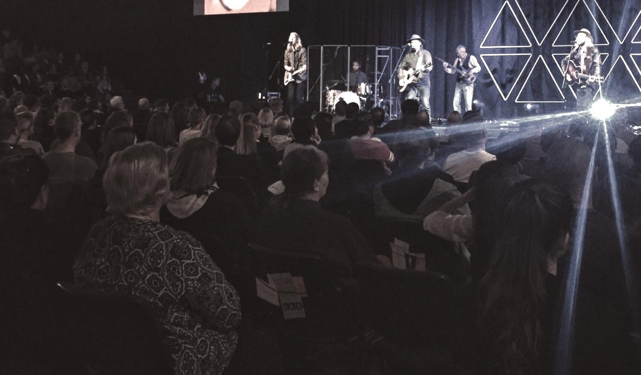 Pictured: Live in concert at Hope Centre, Brisbane.