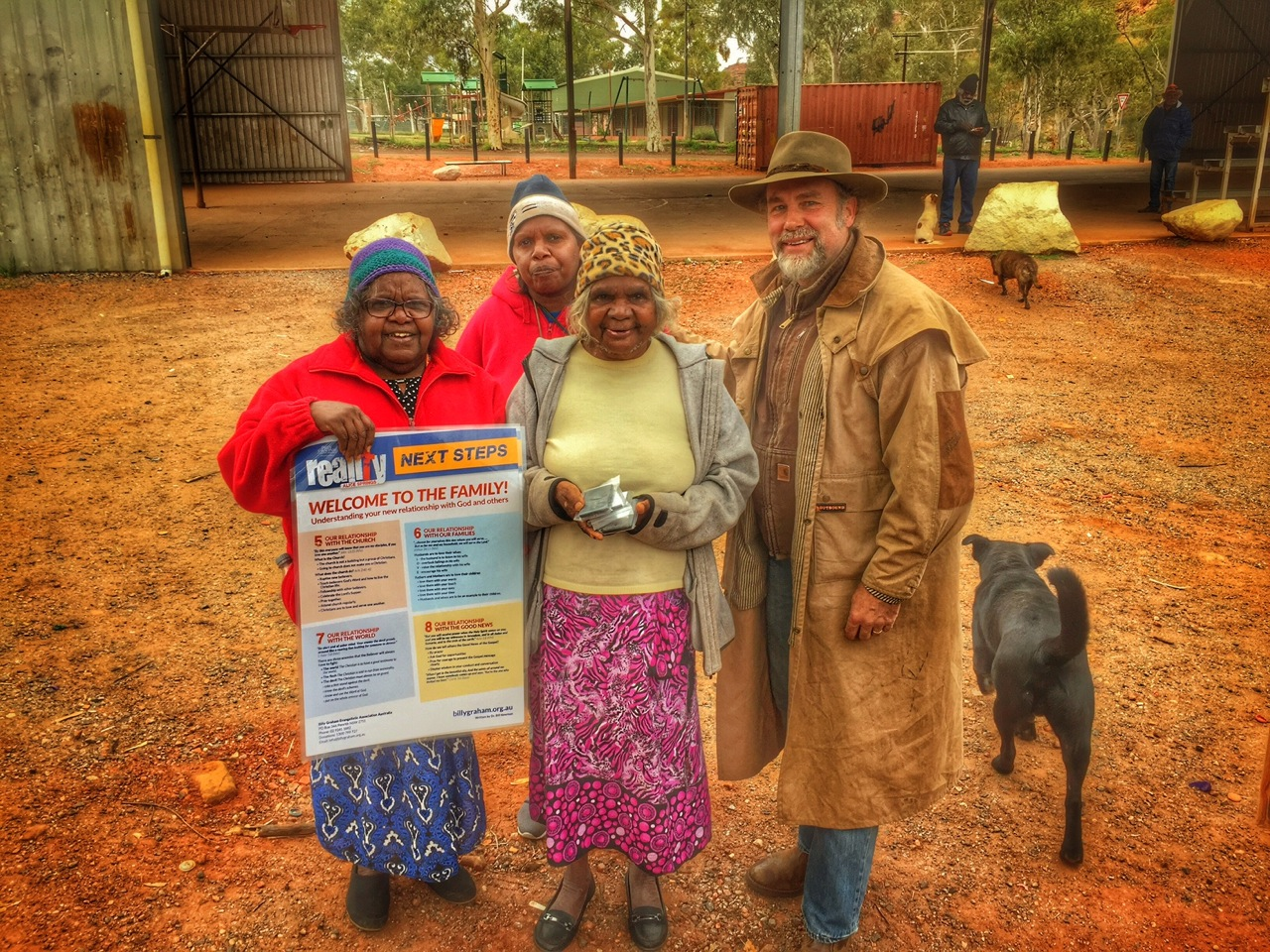 Pictured: Steve with some of the ladies from the Areonga Lutheran Church.