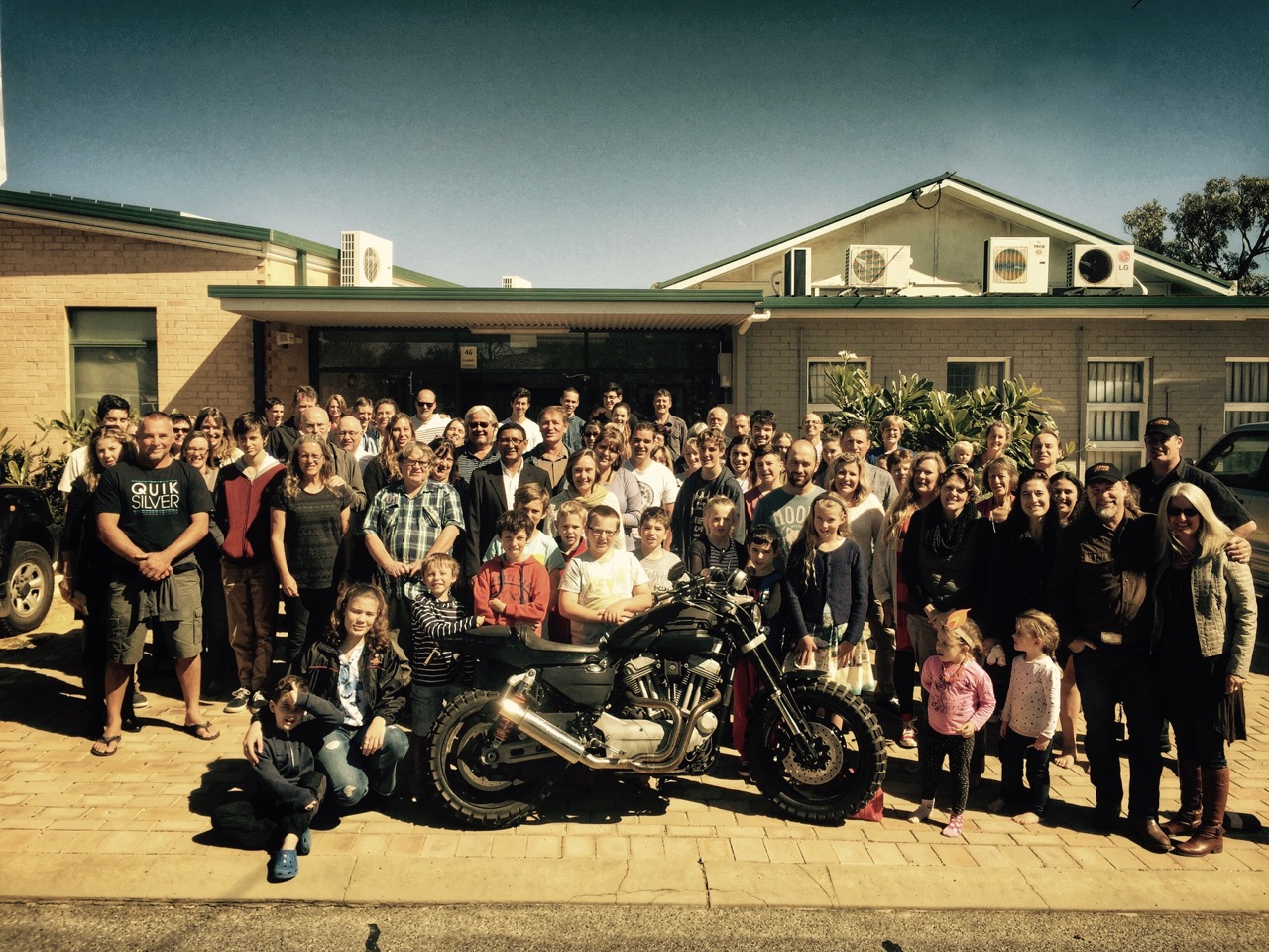 Pictured: The church family at Geraldton Baptist Church celebrating the launch of the Crossing Australia.